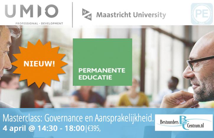 Masterclass, accreditatie, aansprakelijkheid, governance
